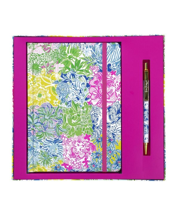 Journal with Pen in Cheek to Cheek