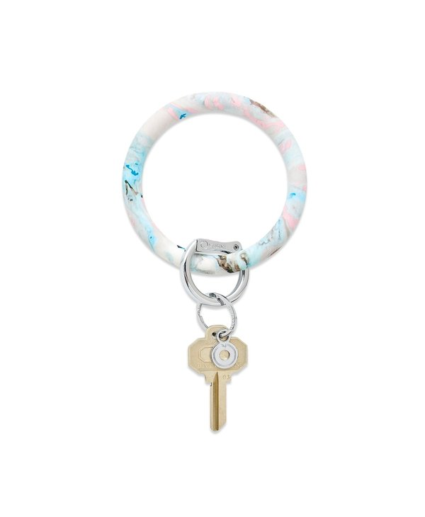 Silicone Big O Key Ring in Pastel Marble