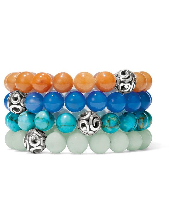 Contempo Chroma Turquoise Stretch Bracelet