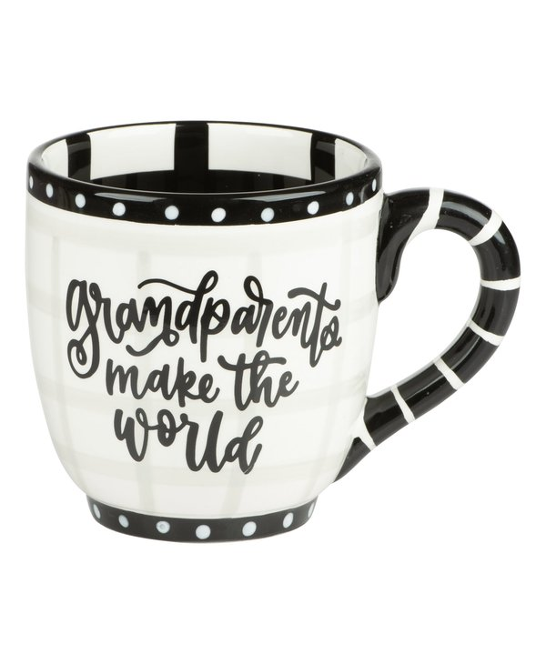 """Grandparents Make The World A Better Place"" Mug"
