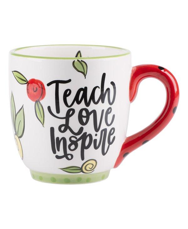 "Floral ""Teach, Love, Inspire"" Mug"