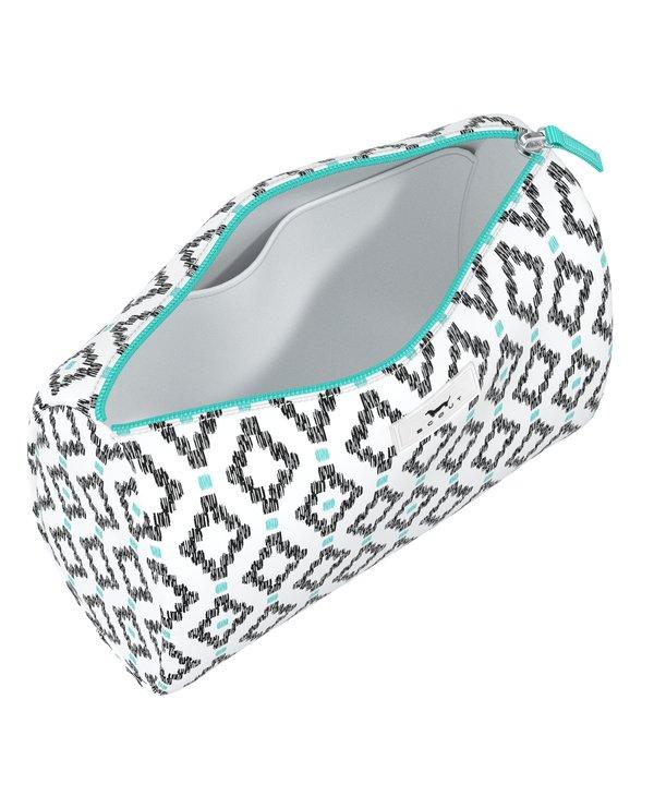 Packin' Heat Makeup Bag in Teal Diamond