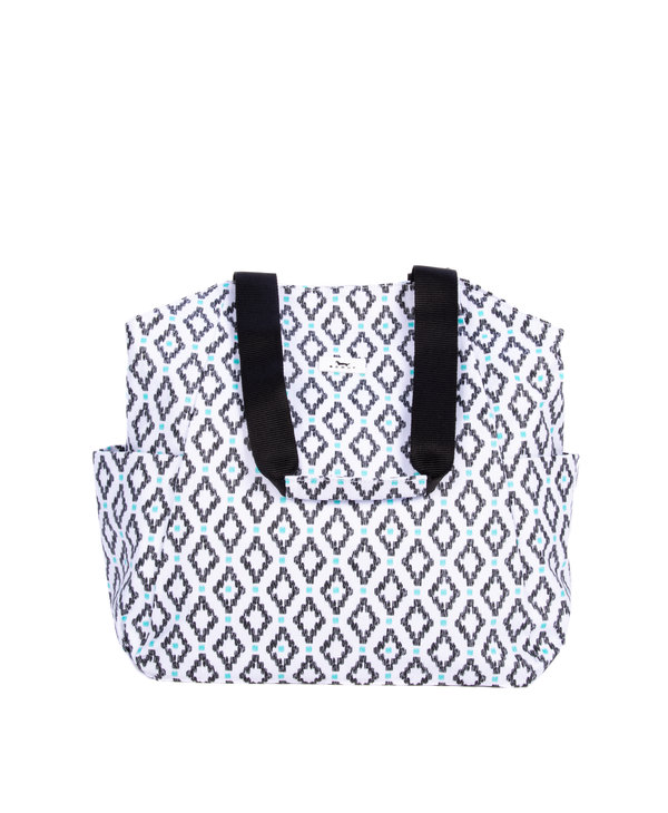 The Daily Shoulder Bag in Teal Diamond
