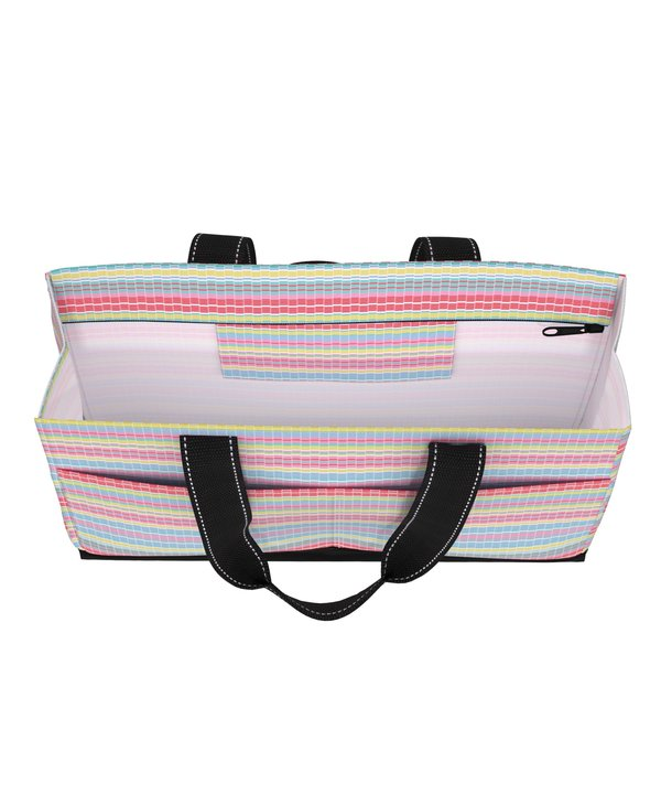 Uptown Girl Pocket Tote Bag in Good Vibrations