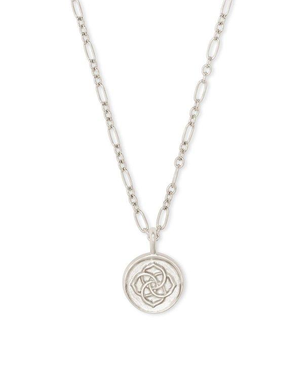 Dira Coin Pendant Necklace in Silver