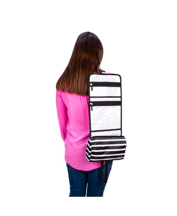 Beauty Burrito Hanging Toiletry Bag in Fleetwood Black
