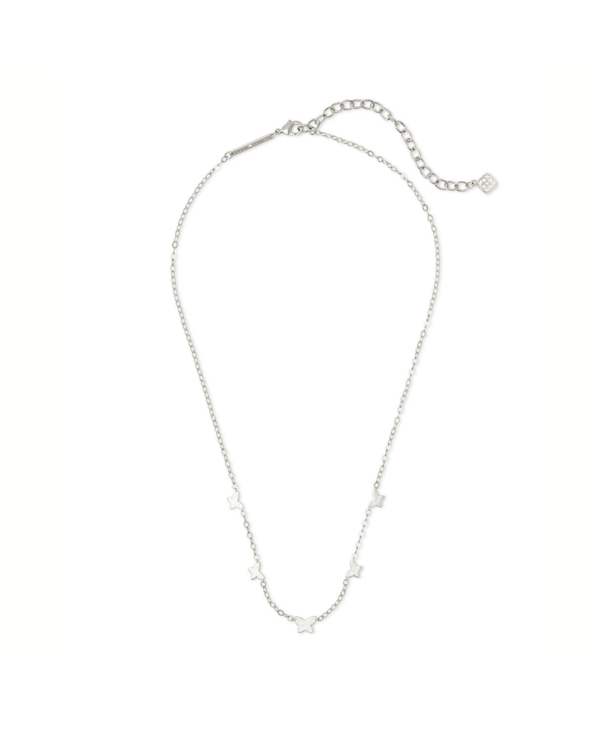 Lillia Butterfly Strand Necklace In Silver