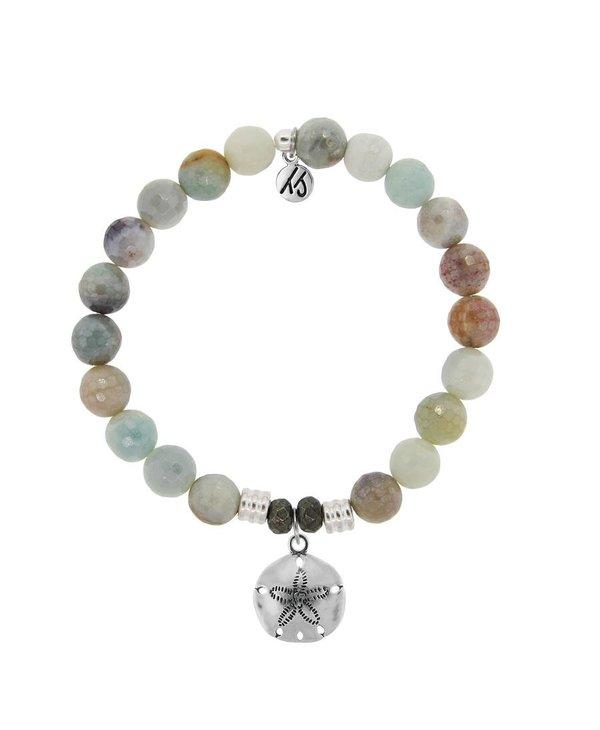 Sand Dollar  Bracelet in Amazonite & Silver