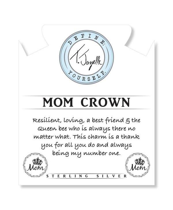 Mom Crown Bracelet in Watermelon Quartz & Silver
