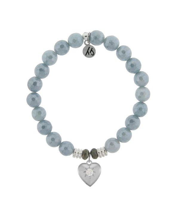 Self-Love Bracelet in Blue Quartzite & Silver