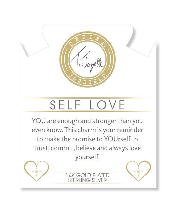 Self-Love Bracelet in Orange Moonstone & Gold