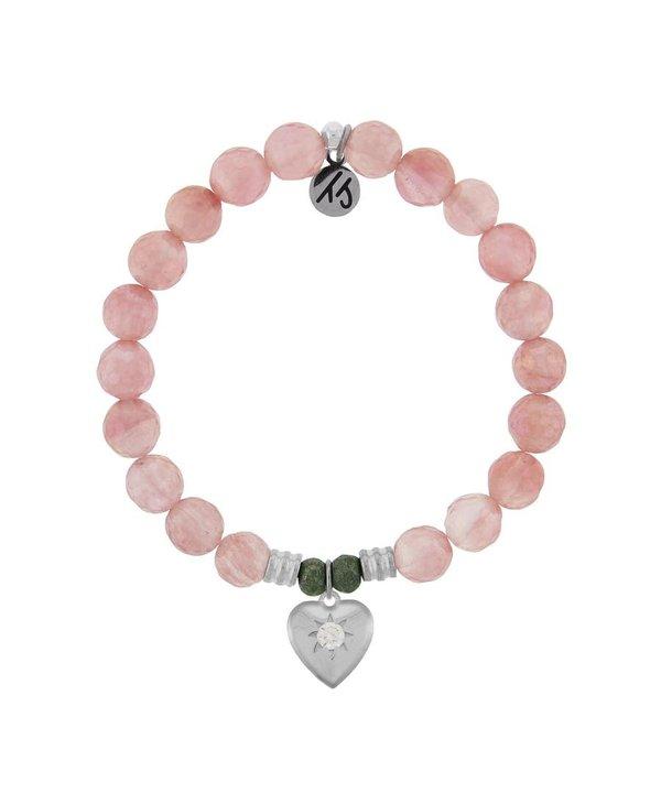 Self-Love Bracelet in Watermelon Quartz & Silver