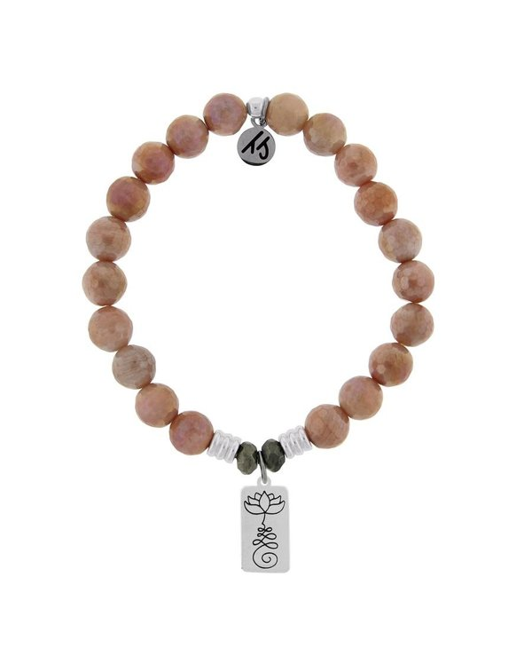 New Beginnings Bracelet in Orange Moonstone & Silver
