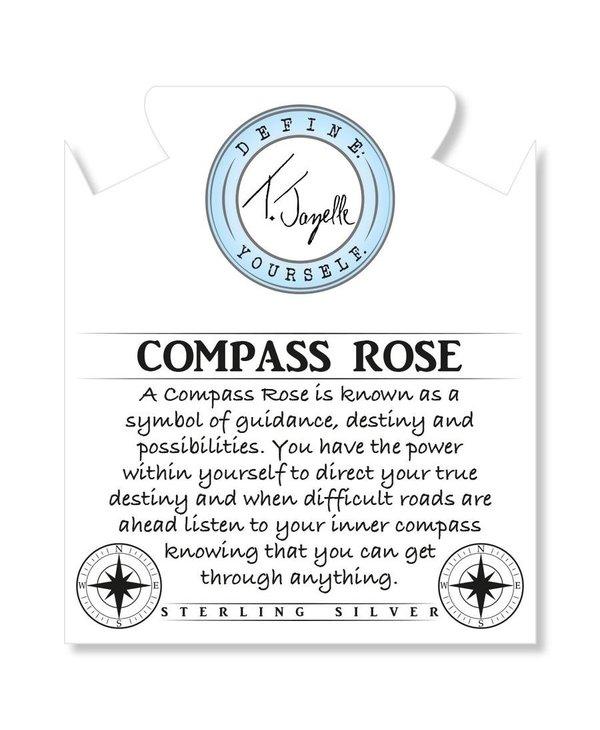 Compass Rose Bracelet in Sage Amethyst & Silver