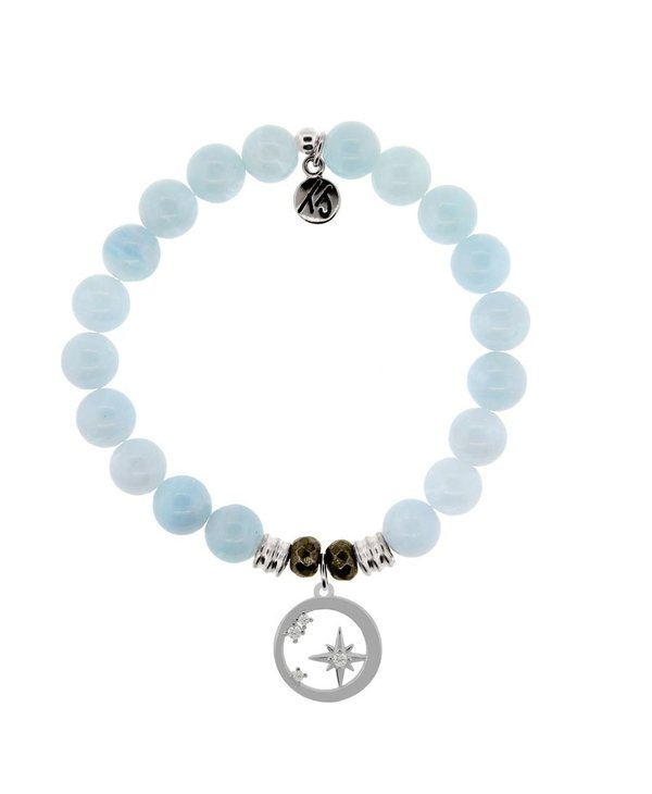 What Is Meant To Be Bracelet in Blue Aquamarine & Silver