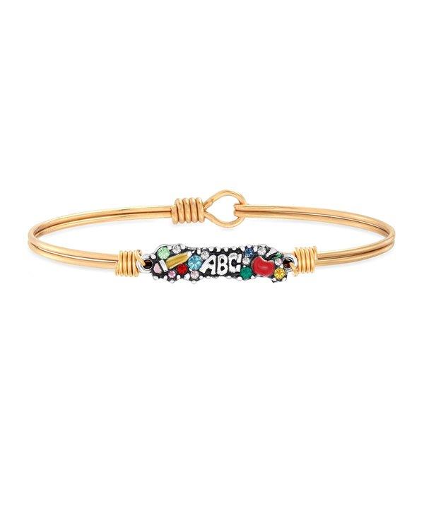 Teacher Medley Bangle Bracelet in Gold