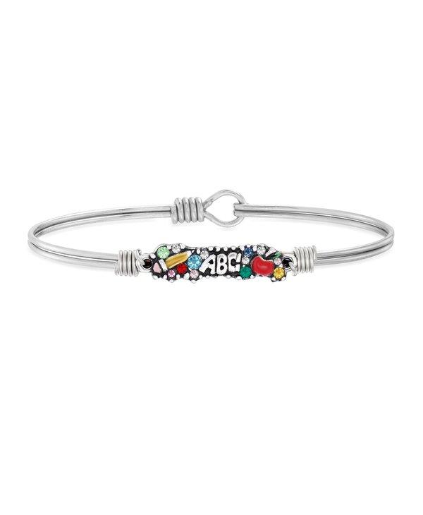 Teacher Medley Bangle Bracelet in Silver