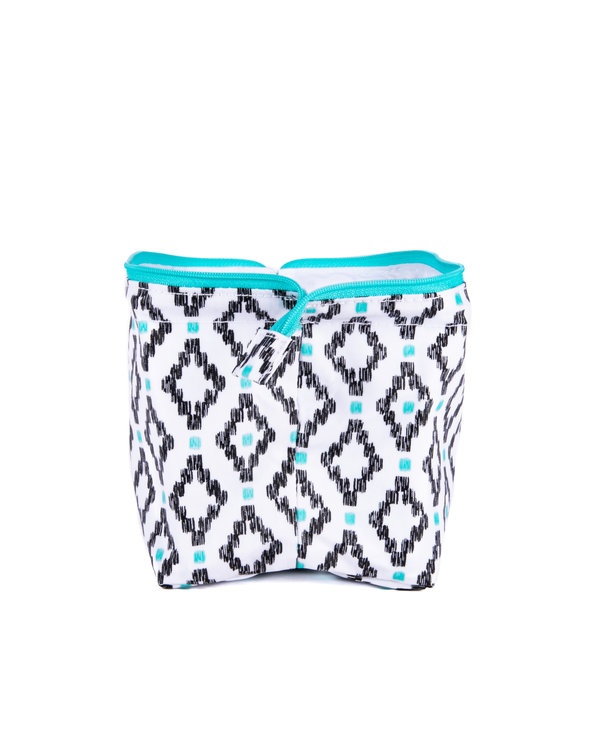 Little Big Mouth Toiletry Bag in Teal Diamond