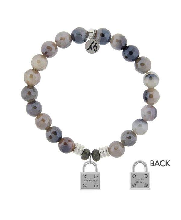 Unbreakable Bracelet in Storm Agate & Silver