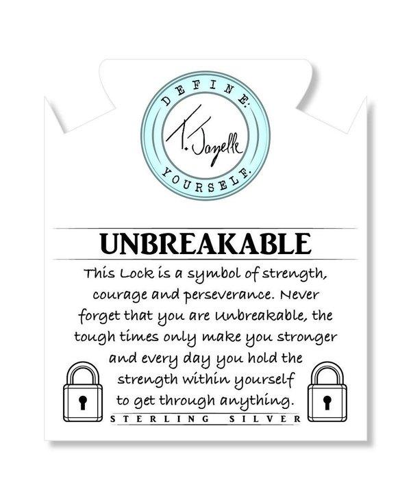 Unbreakable Bracelet in Sage Amethyst & Silver
