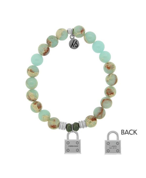 Unbreakable Bracelet in Desert Jasper & Silver