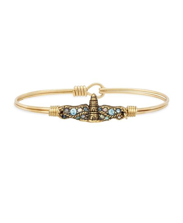 Lighthouse Medley Bangle Bracelet in Gold