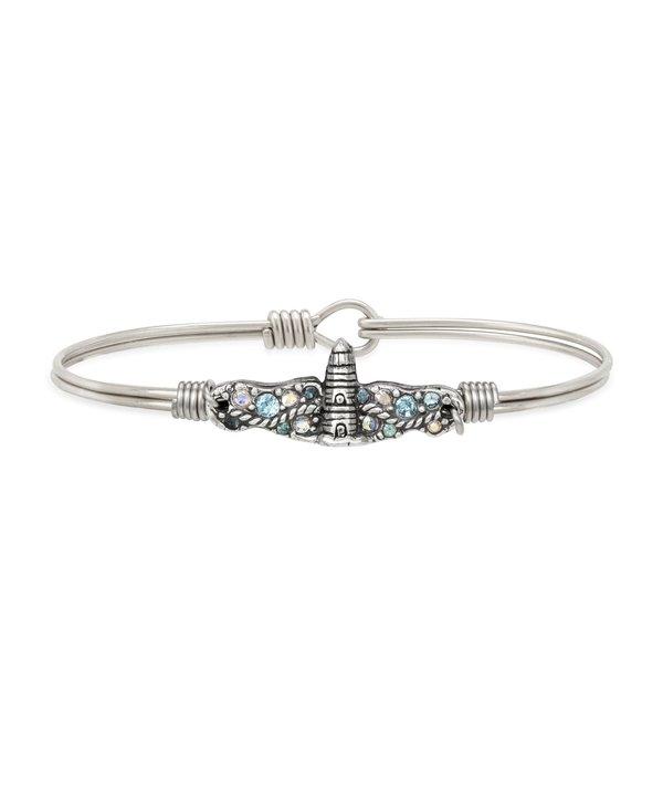 Lighthouse Medley Bangle Bracelet in Silver