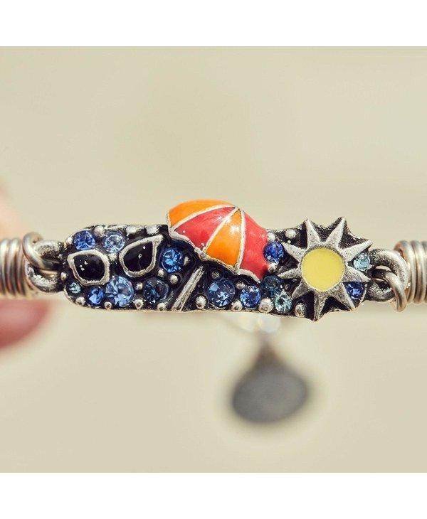 Summer Medley Bangle Bracelet in Silver