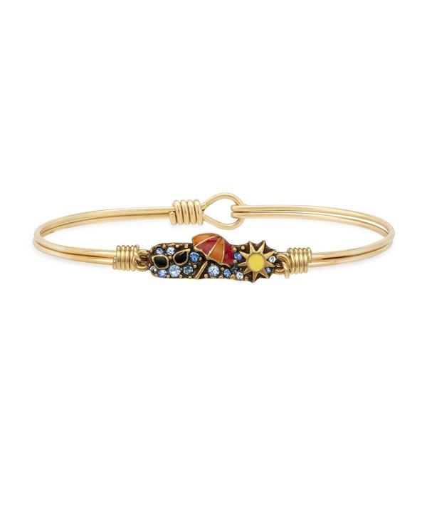 Summer Medley Bangle Bracelet in Gold