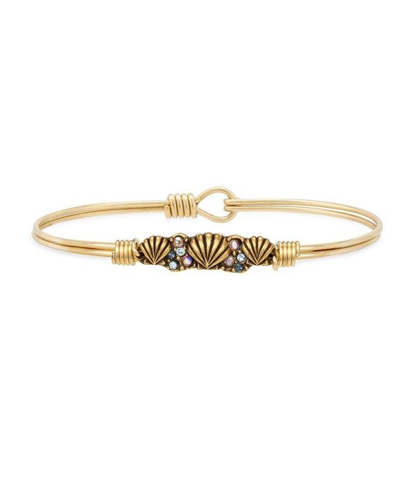 Shell Medley Bangle Bracelet in Gold