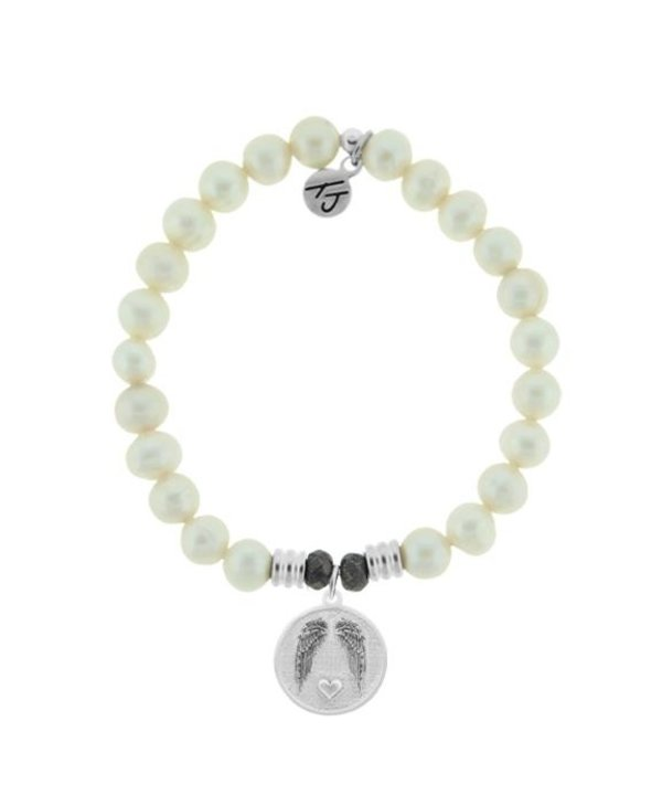 Guardian Bracelet in White Pearl & Silver