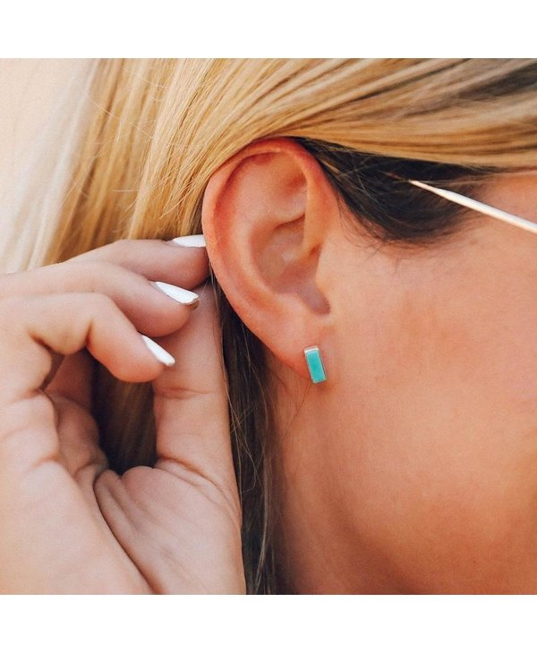Turquoise Bar Earrings