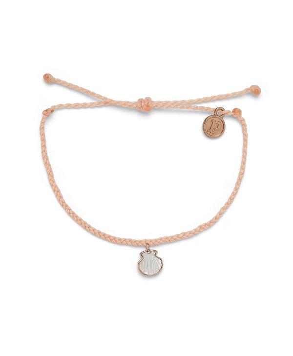 Real Shell Charm Bracelet in Rose Gold