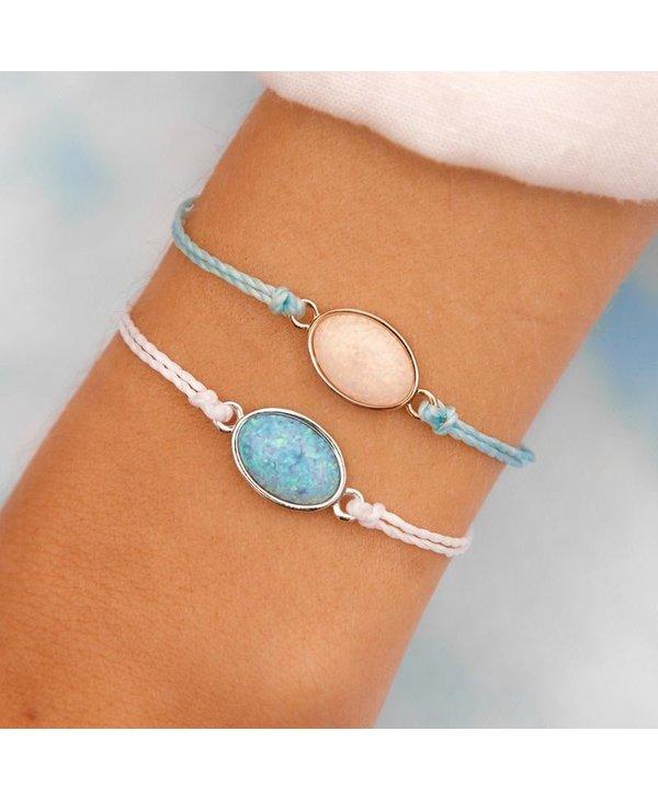 Opal Charm Bracelet in White