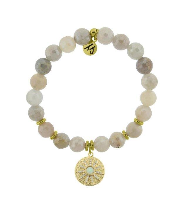 Be The Light Bracelet in Moonstone & Gold