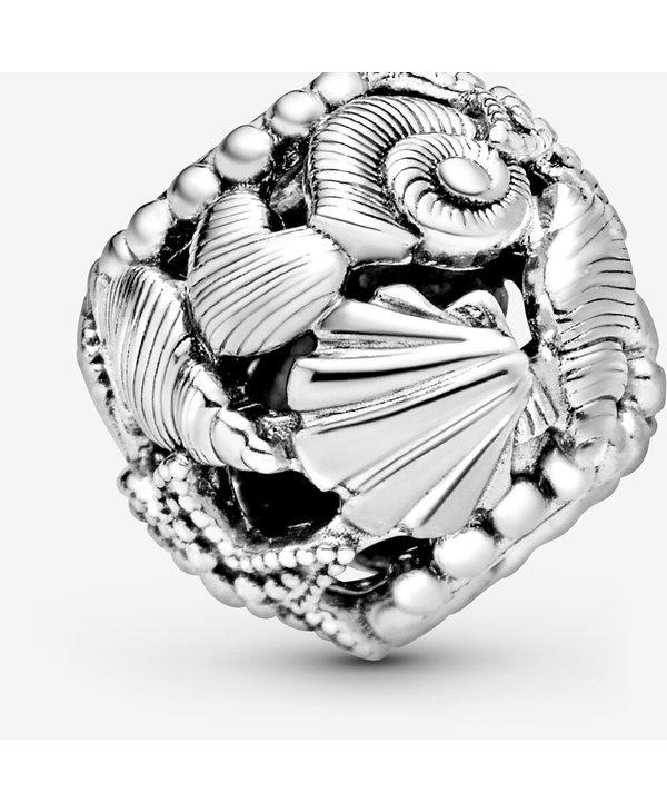 Openwork Starfish, Shells & Hearts Charm