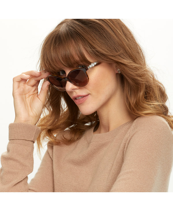 Infinity Sparkle Sunglasses in Brown