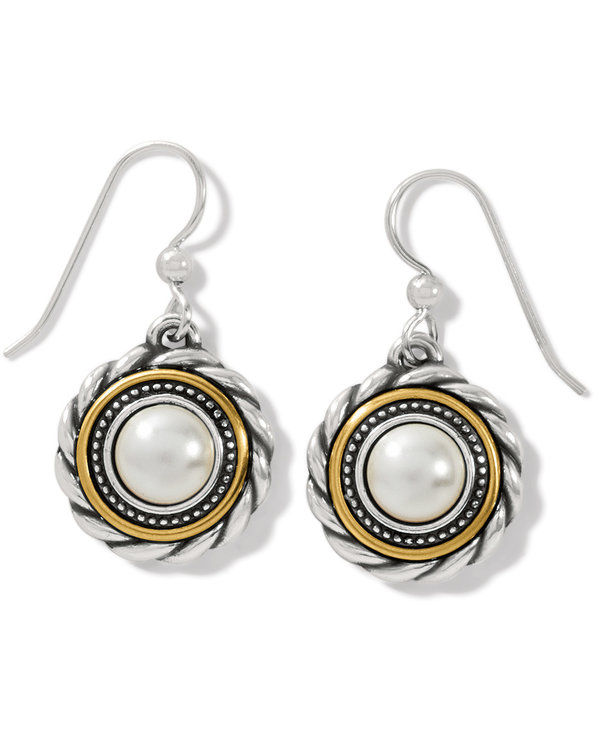 Meridian Golden Pearl French Wire Earrings