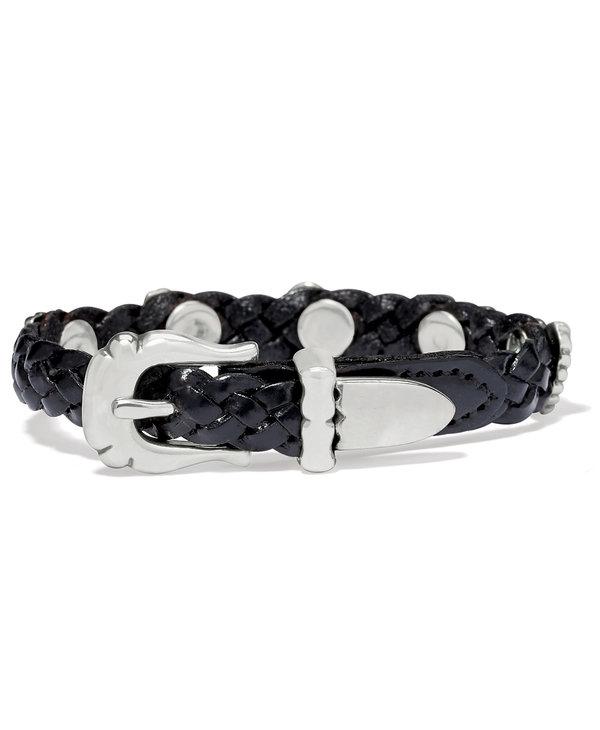 Roped Heart Braid Bandit Bracelet in Black