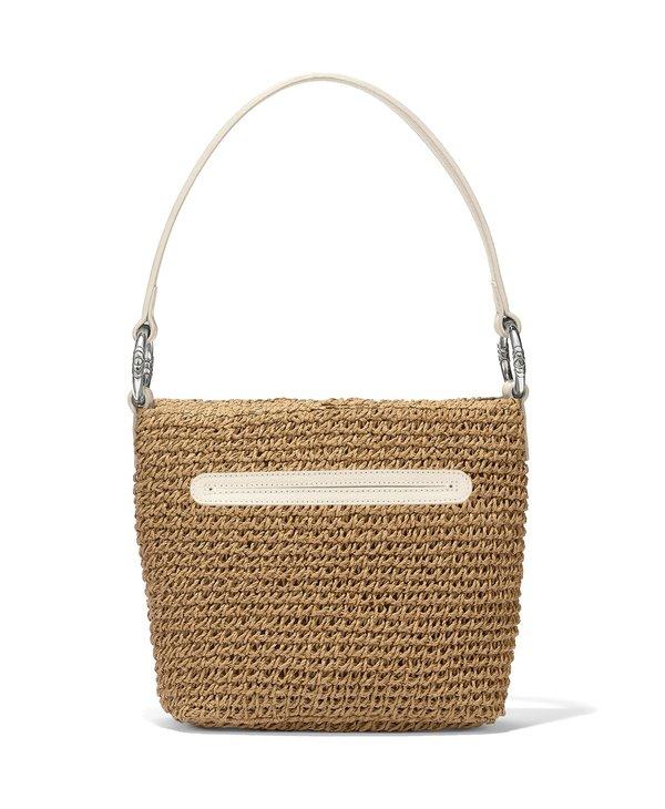 Cherie Straw Shoulderbag in Wheat & White