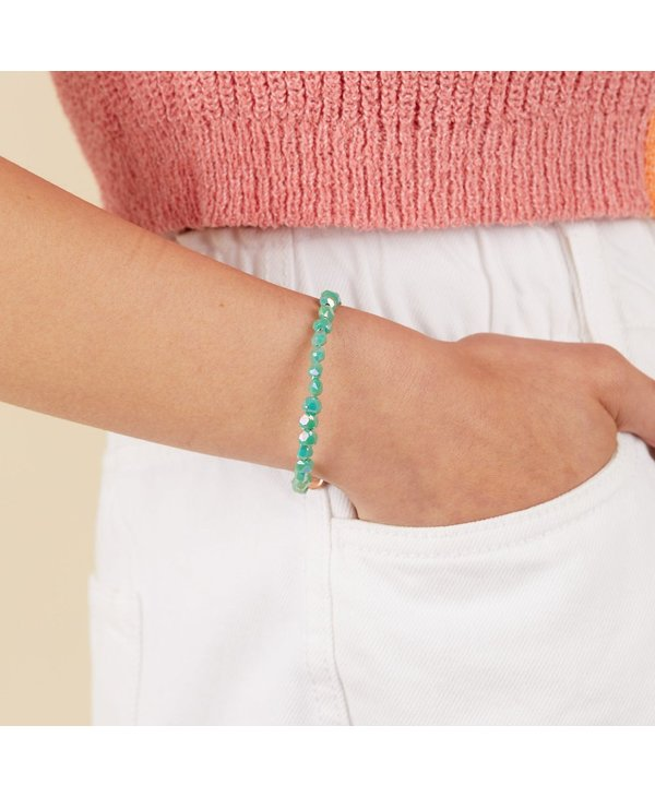 Happiness Beaded Wrap Bracelet in Turquoise