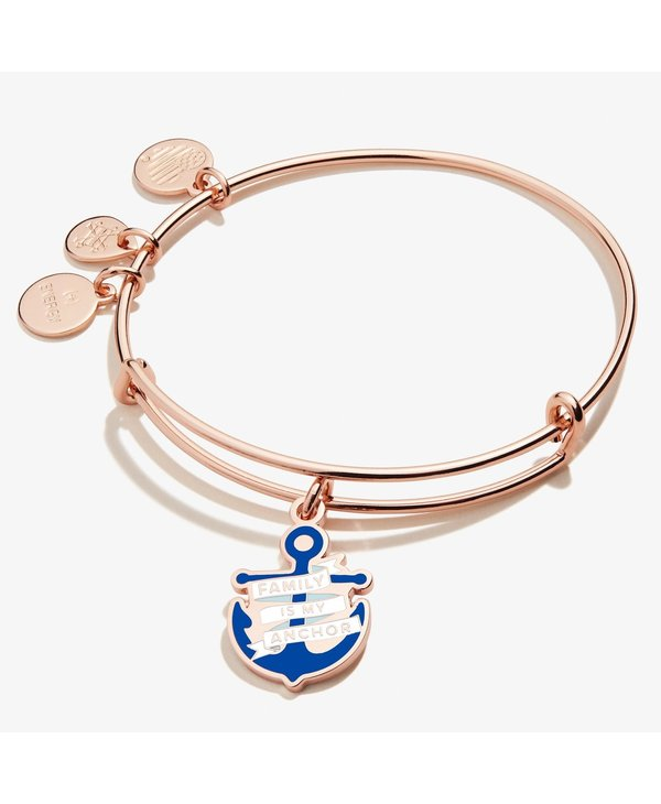 """""""Family is My Anchor"""" Charm Bangle"""