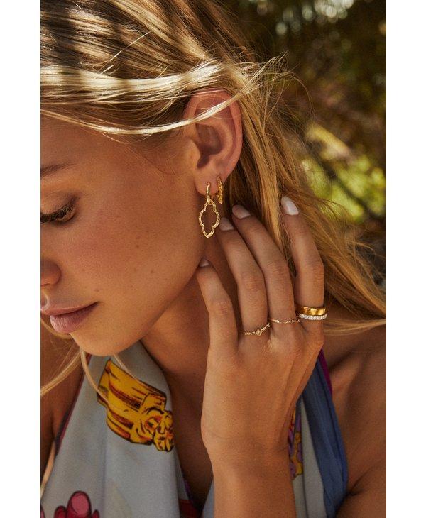Abbie Stud & Huggie Earrings Set In Vintage Gold