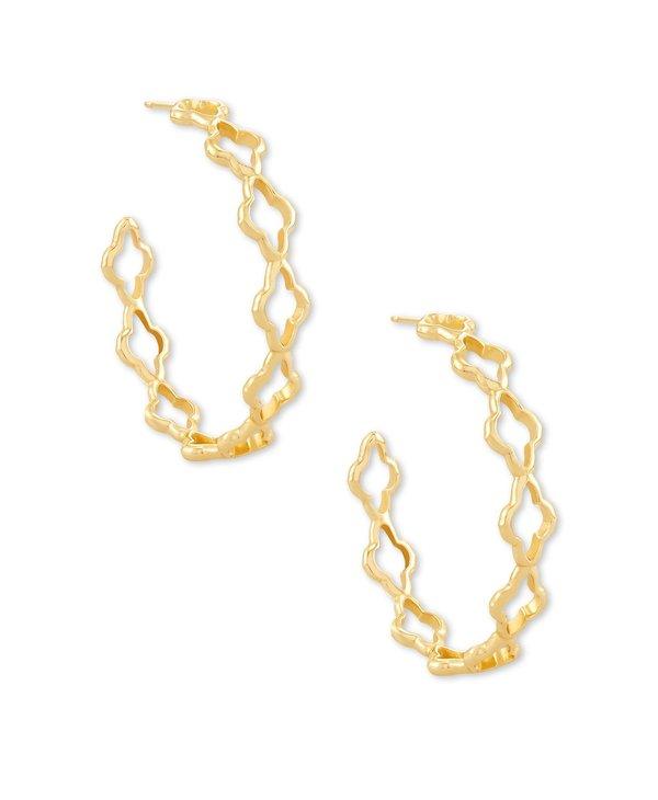 Abbie Hoop Earrings In Gold