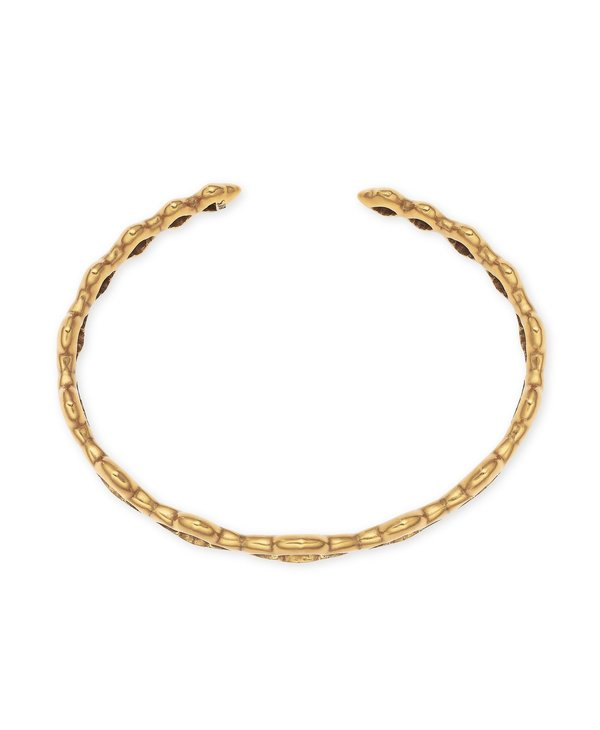 Abbie Cuff Bracelet In Vintage Gold