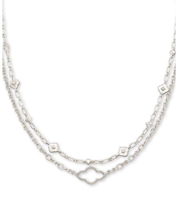 Abbie Multi Strand Necklace In Silver