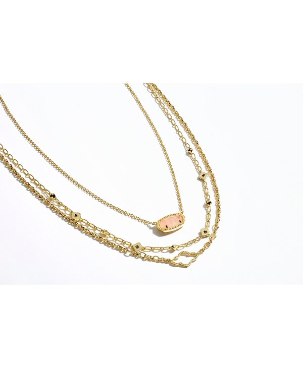 Abbie Multi Strand Necklace In Gold
