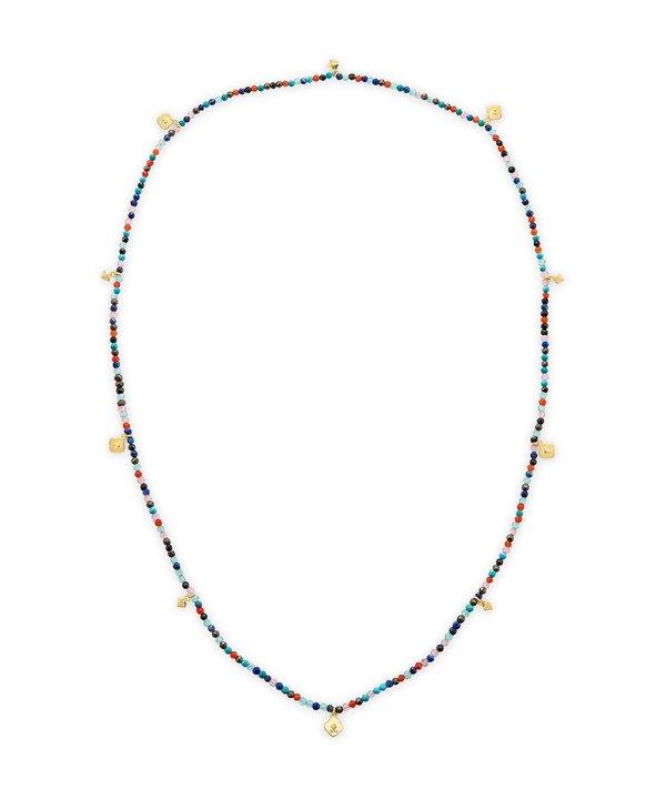 Britt Gold Convertible Stretch Necklace In Multi Mix