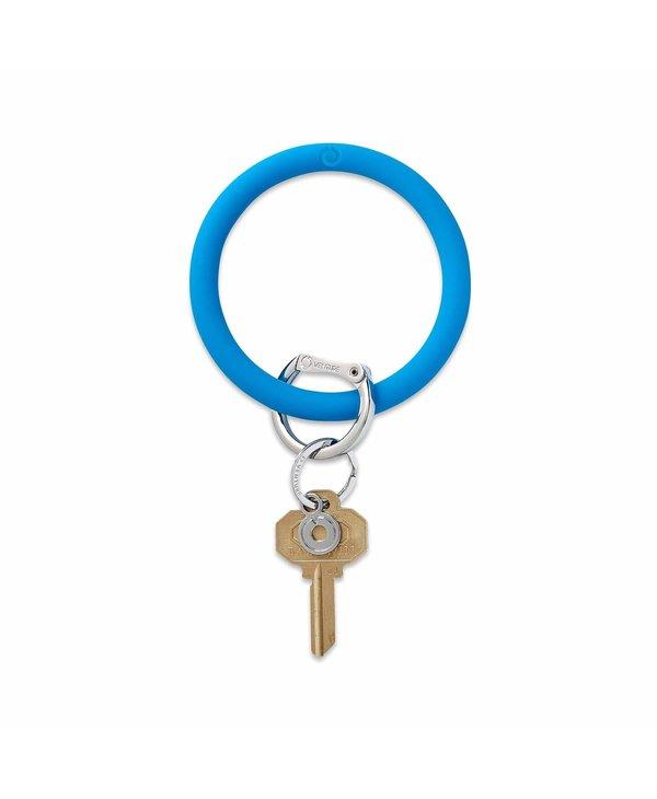 Silicone Big O Key Ring in Peacock