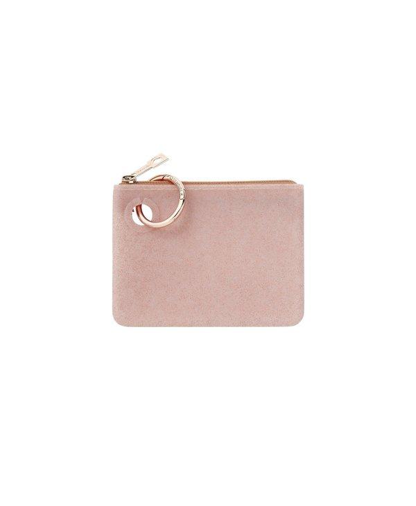 Mini Silicone Pouch in Rose Gold Confetti